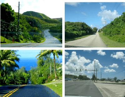グアムの南部の道路