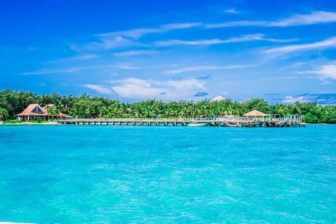 ココス島にある桟橋と海