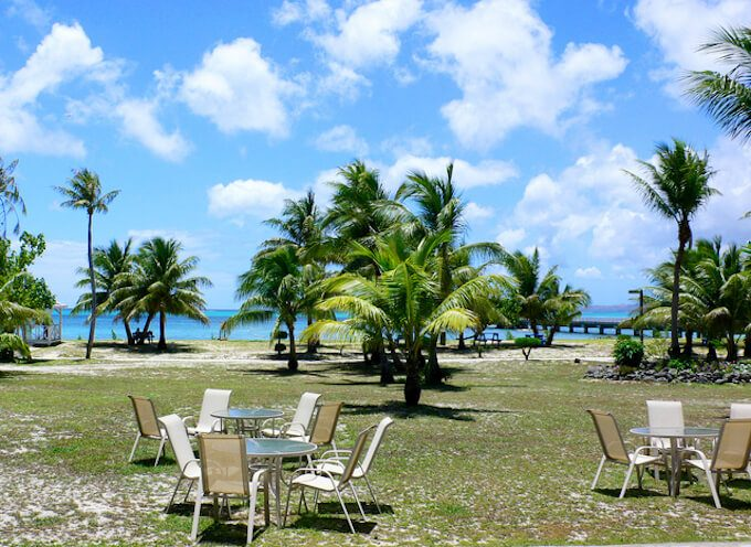 ココス島の整備された公園