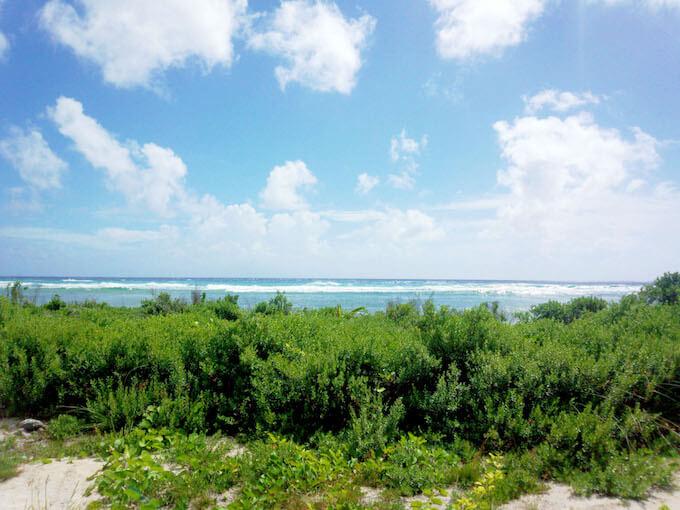 ココス島で砂が拾える場所
