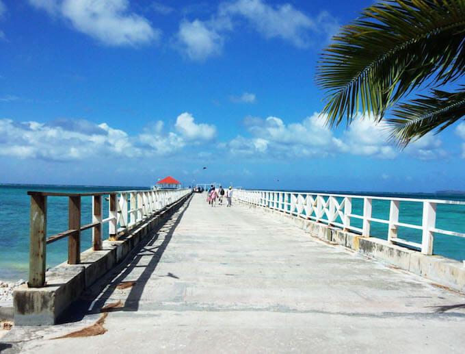 ココス島の桟橋