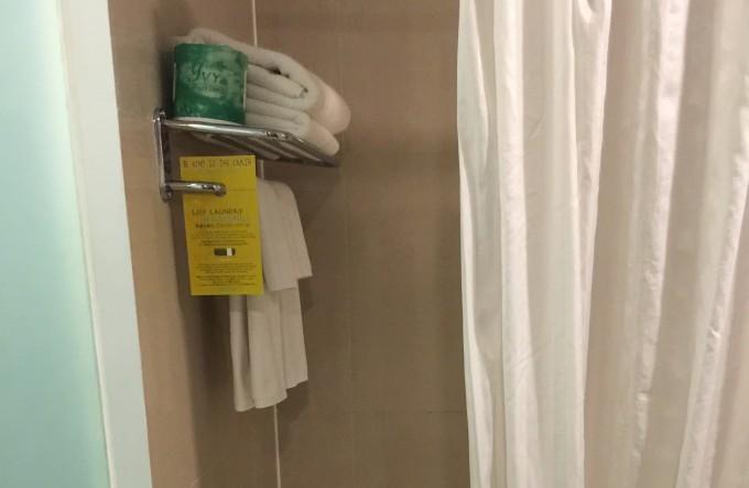 グアムプラザホテルのタオル