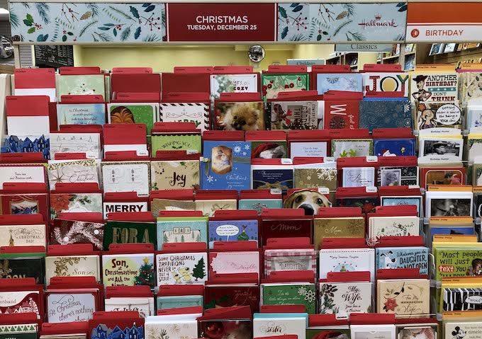 グアムの本屋にあったクリスマスのポストカード