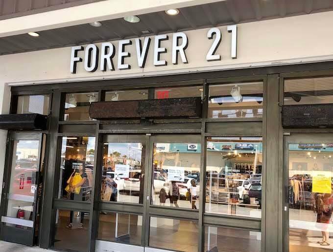 GPOのフォーエバー21の店舗入り口