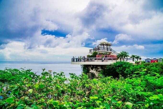 グアムの恋人岬の展望台