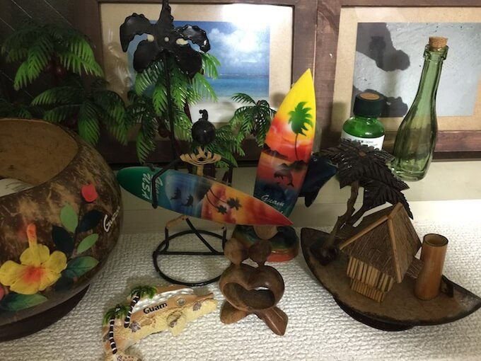 グアムの様々な民芸品のお土産