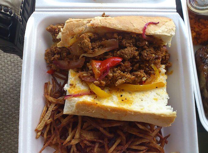 グアムのプロアのサンドイッチ