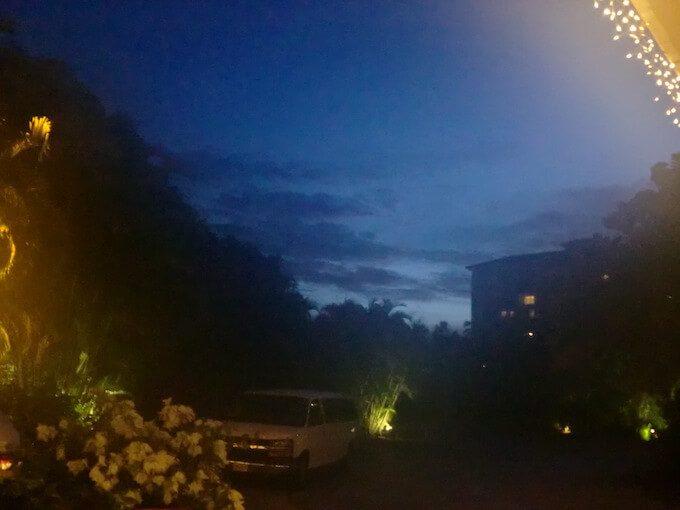 グアムのレオパレスリゾートホテルの夜空