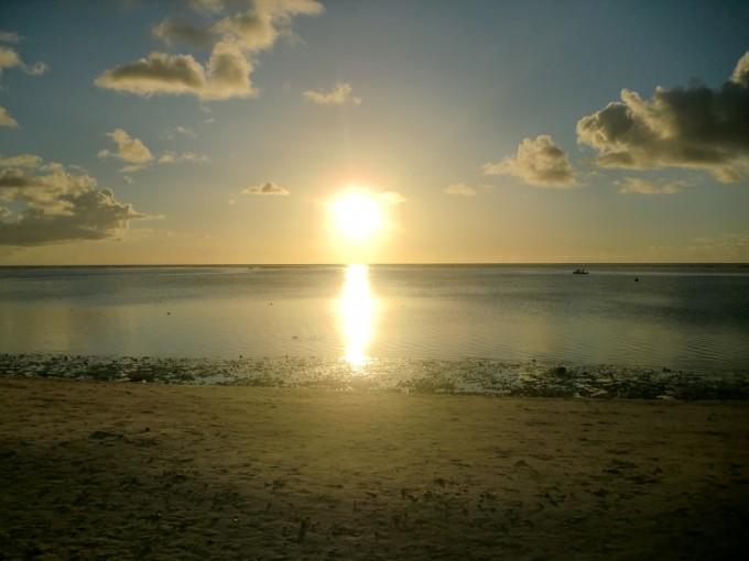 タモン湾のサンセット