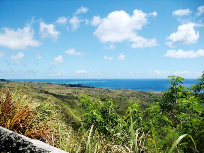 セッティ湾展望台から見たココス島