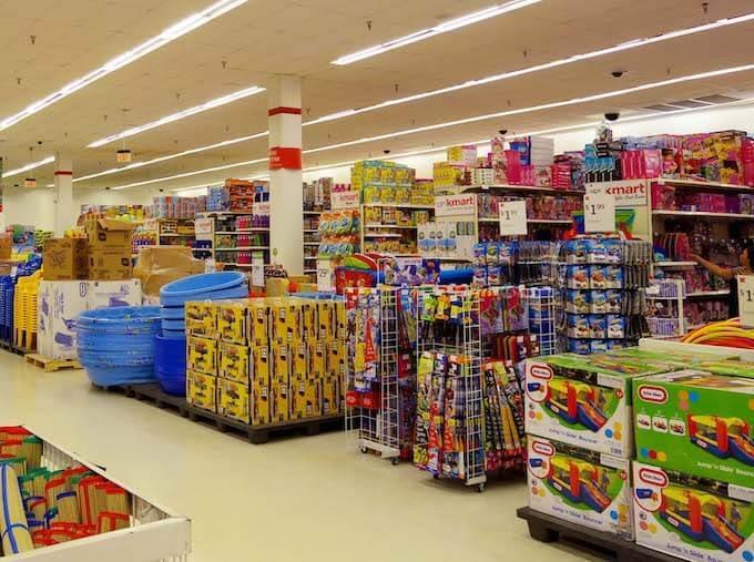 Kマートのおもちゃ売り場