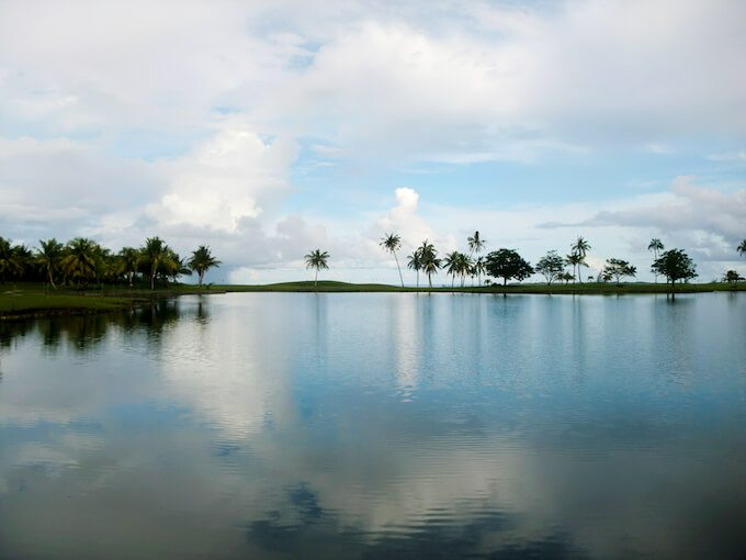レオパレスリゾートグアムの湖