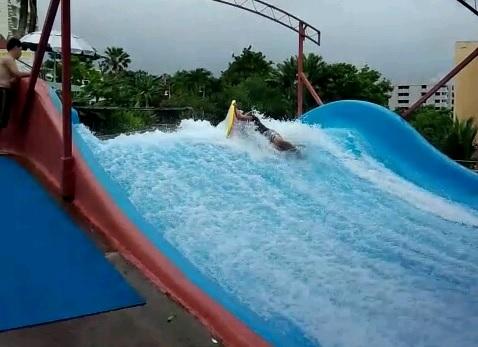 ターザでサーフィン