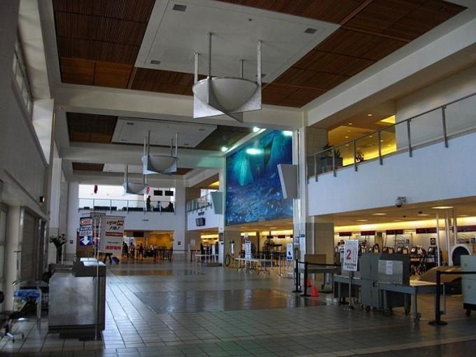 グアム空港出国カウンター