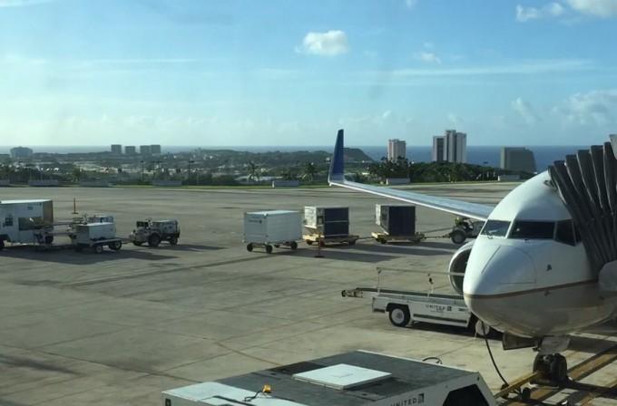 グアム空港から見たタモン湾