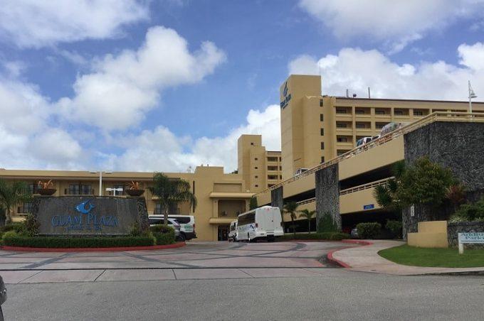 グアムプラザホテルの外観