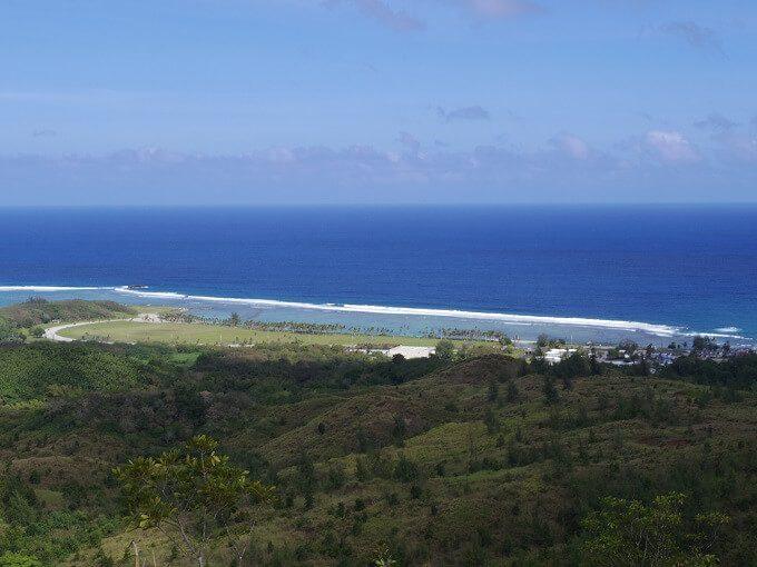 グアムのアサン展望台から見た海