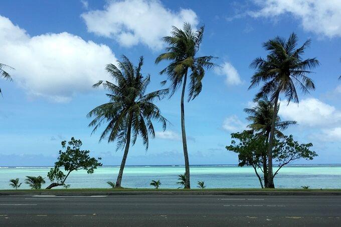 グアムのモサズジョイント前のハガニア湾