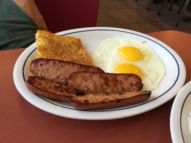 グアムのIHOPの朝食