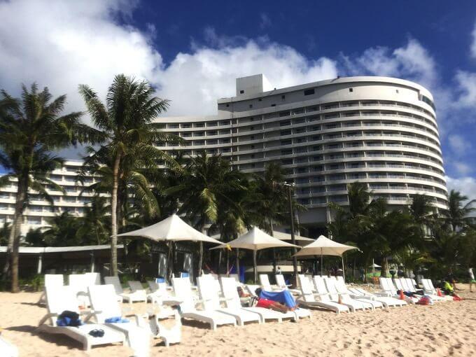 グアムのニッコーホテルとビーチ