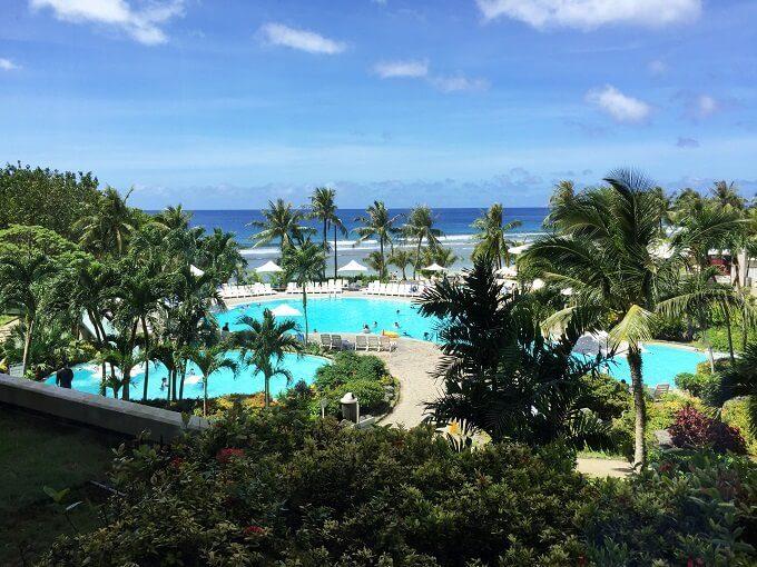 グアムのニッコーホテルのプール全体