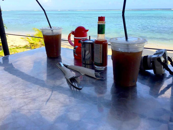 グアムのトゥリカフェのアイスコーヒー