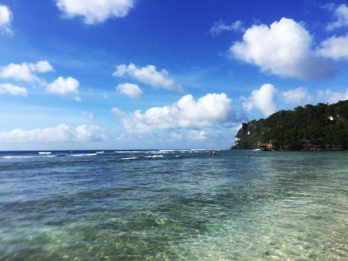 ガンビーチの透明度
