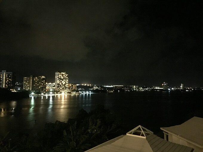 グアムニッコーホテルから見たタモンの夜景