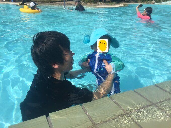 グアムニッコーホテルのプールと赤ちゃん