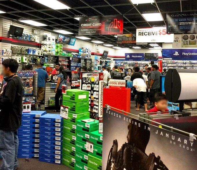 グアムのTVゲームの店