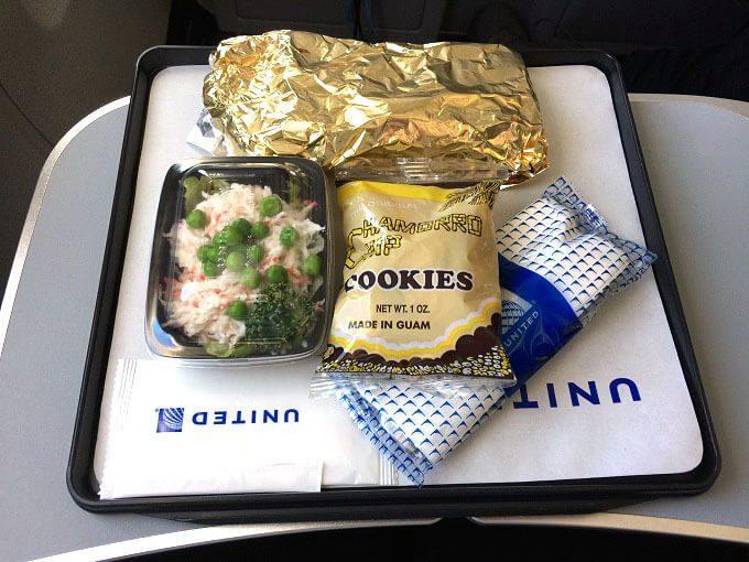 UNITEDグアムの機内食