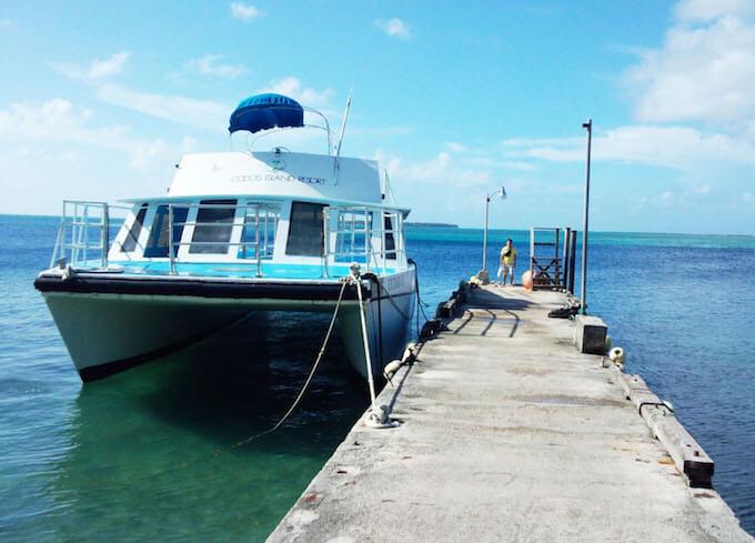 メリッソ桟橋とボート
