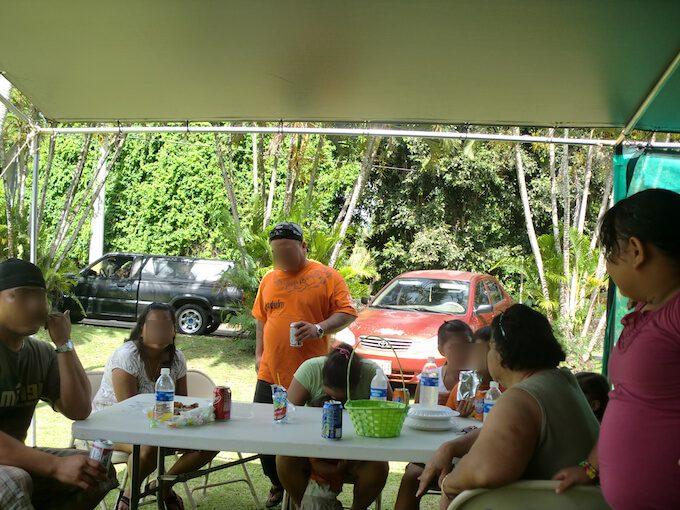 グアム南部のホームパーティーの様子