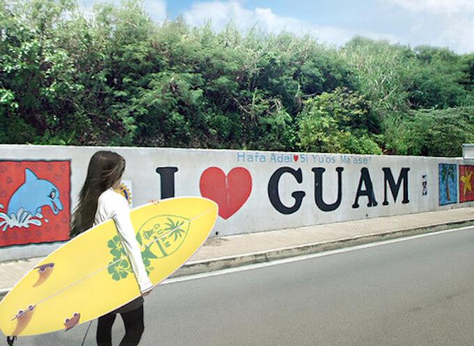グアムの道路のインスタスポット