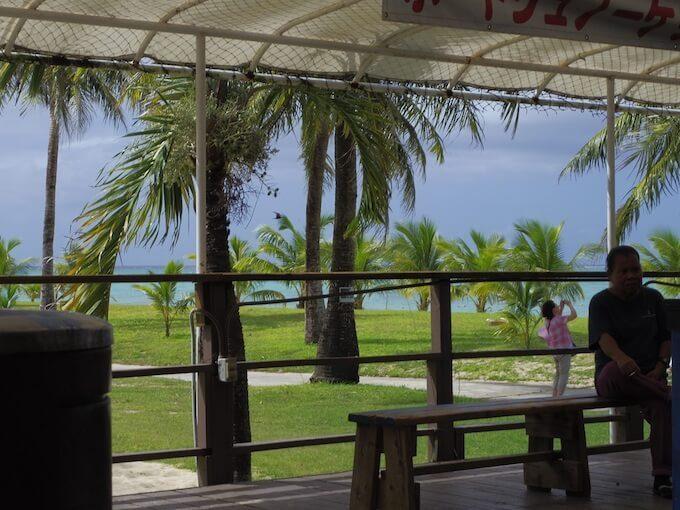 ココス島のスコール
