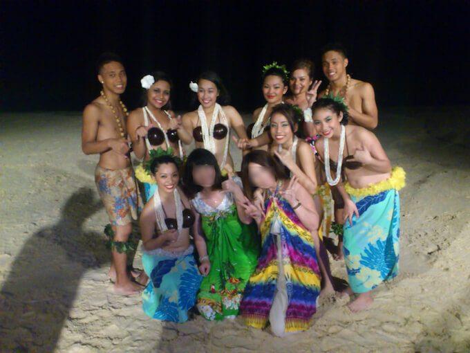 ハガニアのダンスショーの記念撮影