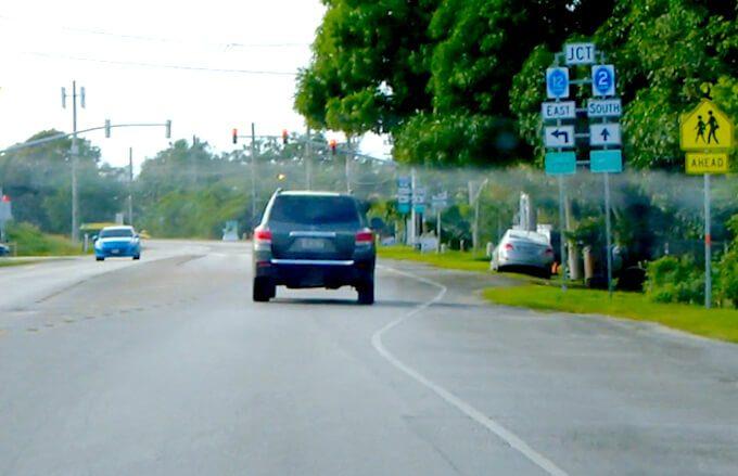 グアム南部の2Aと12号線