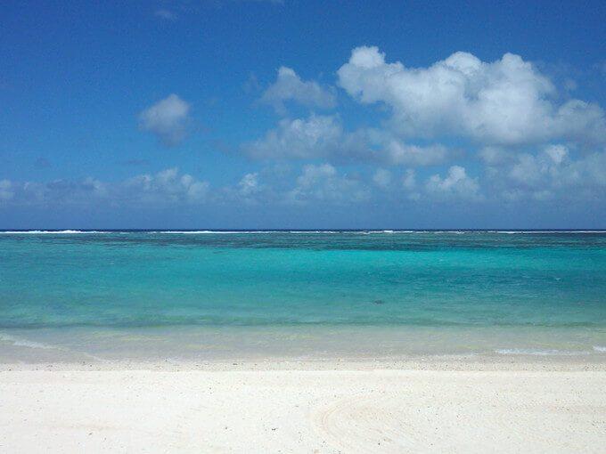 イパオビーチの美しい海