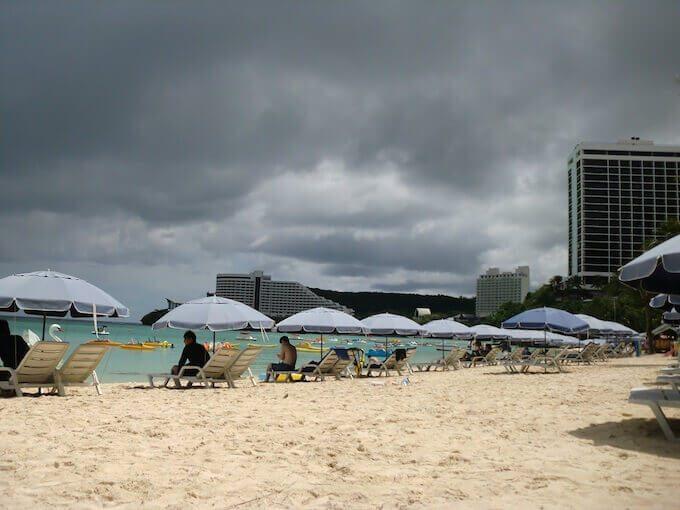 スコールのタモンビーチ