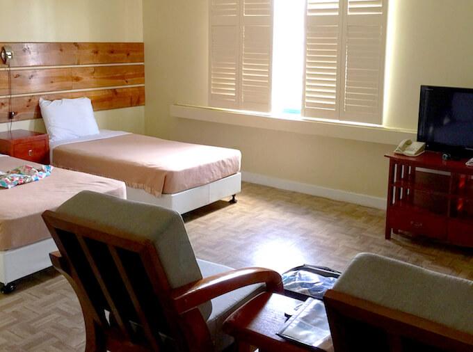 ガーデンヴィラのコンドミニアム部屋のベッド