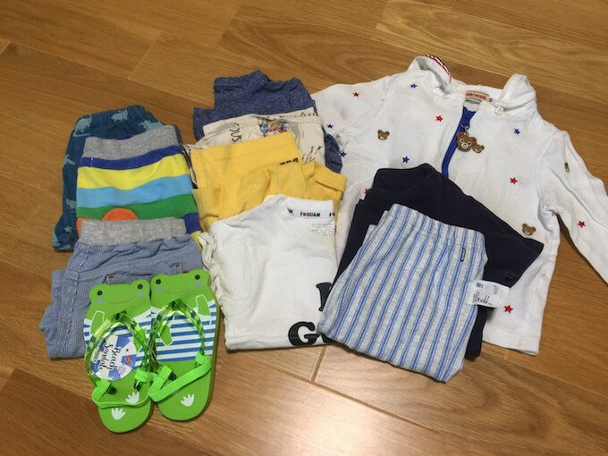 1歳児の衣類の持ち物