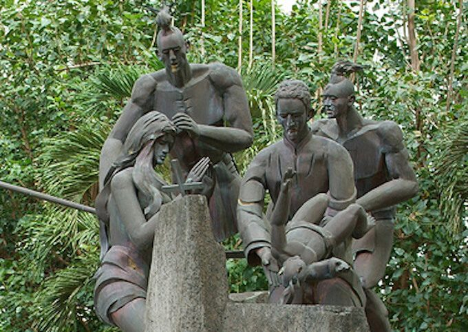 パドレ・ディエゴ・ルイス・デ・サンビトレスの銅像