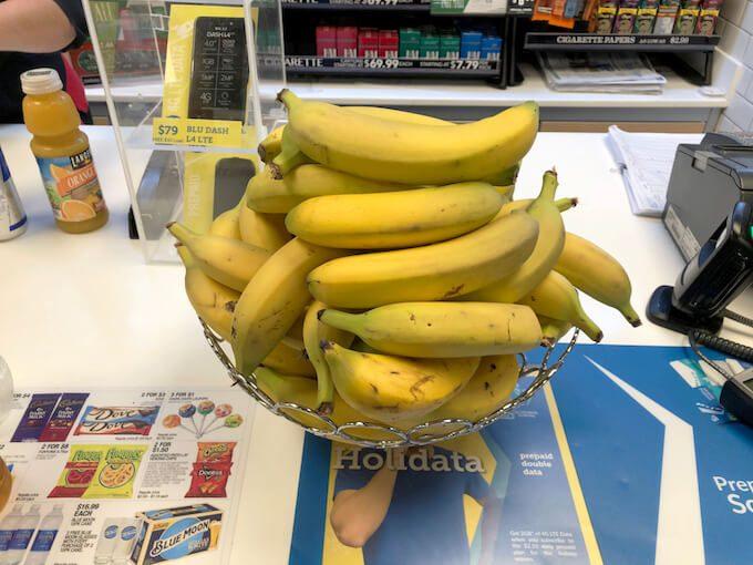 グアムのフーディーズのバナナ