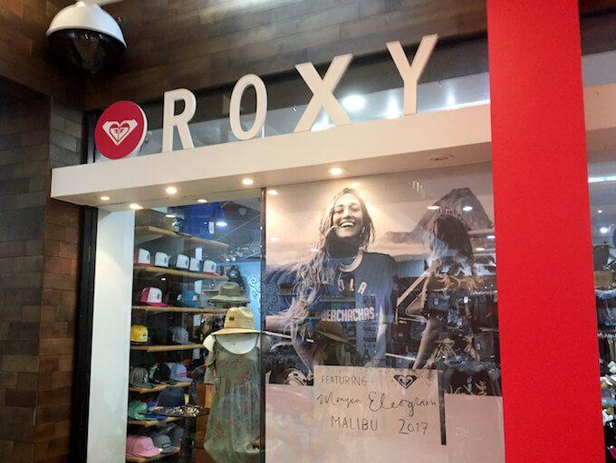 Theプラザ1階にあるROXYの店舗