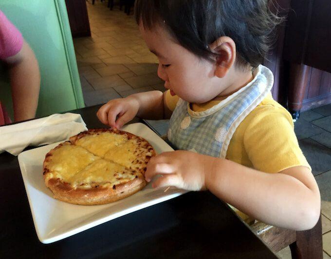 ルビーチューズデーのキッズピザ