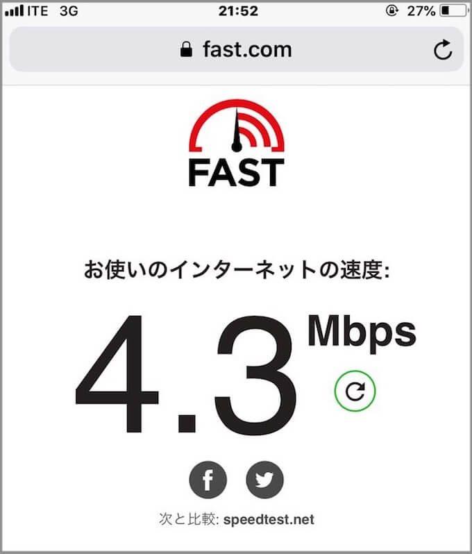 グアムのECOMの速度