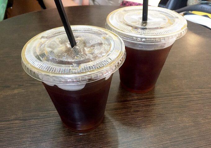 ホノルルコーヒーグアムのアイスコーヒー