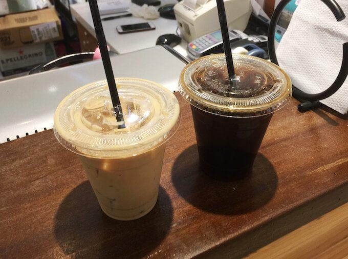 ホノルルコーヒーグアムのコーヒーとラテ