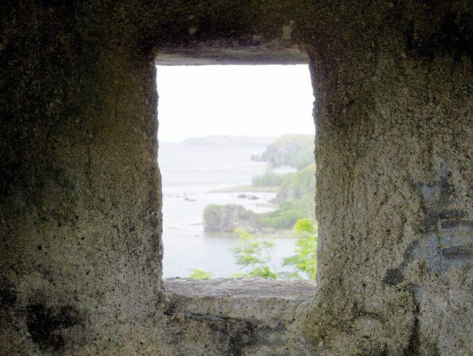 ソレダット砦の中から見たグアム南西部の岬