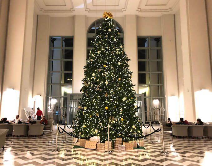 レオパレスリゾートグアムのクリスマスツリー